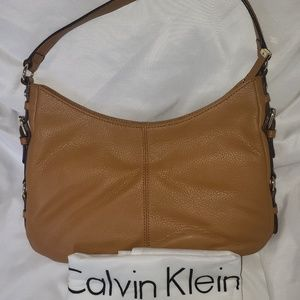 Calvin Klein Pebbled Leather Hobo Bag